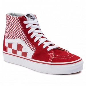 Vans Sneakers Sk8-Hi VN0A38GEVK51 (Mix Checker) CHili Pepper/True White