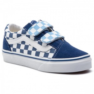 Black Friday 2020 | Vans Tennis Old Skool V VN0A38HDVDX1 (Checkerboard) True Navy