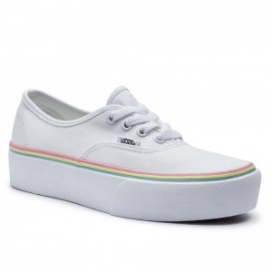 Vans Tennis Authentic Platfor VN0A3AV8S1T1 (Rnbw Foxing) True Whi