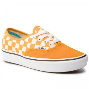 Black Friday 2020 | Vans Tennis Comfycush Authent VN0A3WM7VNC1 (Checker) Zinnia/True Wht