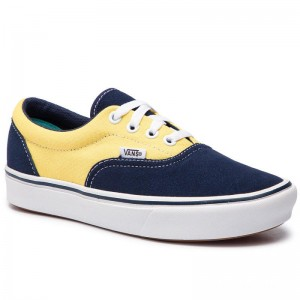 Black Friday 2020 | Vans Tennis Comfycush Era VN0A3WM9VNO1 (Suede/Canvas) Dress Blue