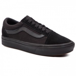 Black Friday 2020 | Vans Tennis Comfycush Old Sko VN0A3WMAVND1 (Classic) Black/Black