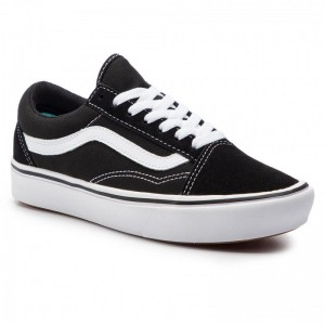 Black Friday 2020 | Vans Tennis Comfycush Old Sko VN0A3WMAVNE1 (Classic) Black/True Whit