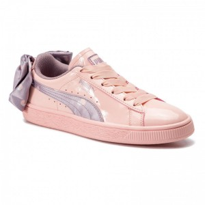 Puma Sneakers Basket Bow Dots Jr 368980 02 Peach Bud-Elderberry