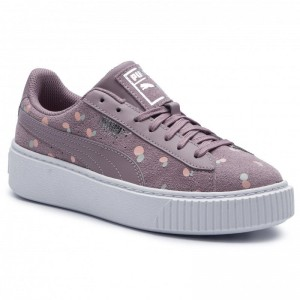 Black Friday 2020 | Puma Sneakers Suede Platform Dots Jr 368991 01 Eldberry/Peach Bud