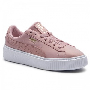 Black Friday 2020 | Puma Sneakers Platform Shimmer Wn's 369593 01 Bridal Rose/Puma White