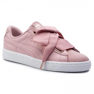 Puma Sneakers Basket Heart Woven Rose Wns 369649 01 Bridal Rose/Puma White