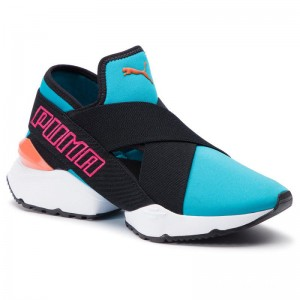 Black Friday 2020 | Puma Sneakers Muse Eos 2 Tz Wn's 369203 01 Caribbean Sea/Puma Black