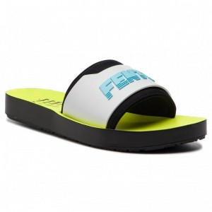 Black Friday 2020 | Puma Mules / sandales de bain Fenty Surf Slide Wns 367747 02 Fuma Black/White/Yellow