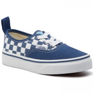 Black Friday 2020 | Vans Tennis Authentic Elastic VN0A38H4VDX1 (Checkerboard) True Navy 2