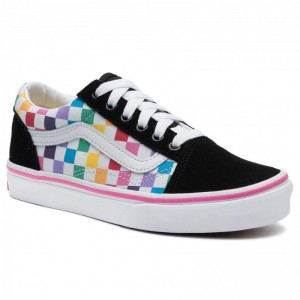 Black Friday 2020 | Vans Tennis Old Skool VN0A4BUUU091 (Checkerboard) Rainbow/Tr