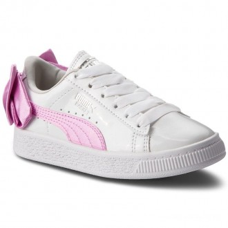 Puma Sneakers Basket Bow Patent Ac Ps 367622 02 White/Orchid/Gray