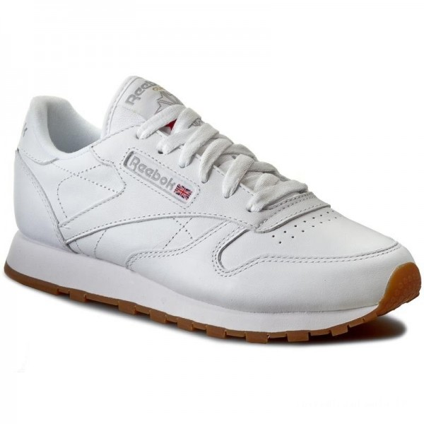 Black Friday 2020 | Reebok Chaussures Cl Lthr 49803 White/Gum