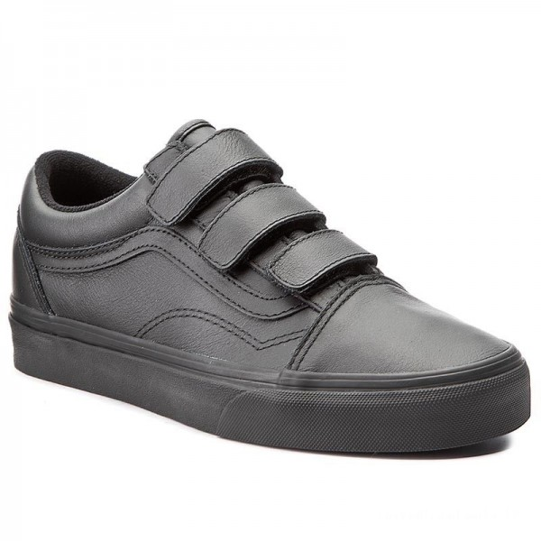Black Friday 2020 | Vans Chaussures basses Old Skool V VA3D29OOZ (Mono Leather) Black