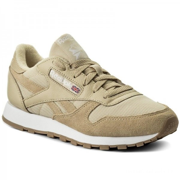 Black Friday 2020 | Reebok Chaussures Cl Leather Estl BS9722 Straw/White