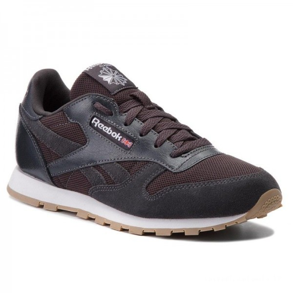 Black Friday 2020 | Reebok Chaussures Cl Leather Estl CN1142 Coal/White