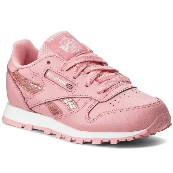 Black Friday 2020 | Reebok Chaussures Cl Leather Spring CN0319 Pink/White