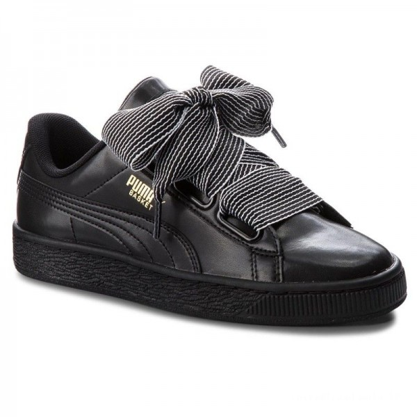 Puma Sneakers Basket Heart Wn's 365198 01 Black