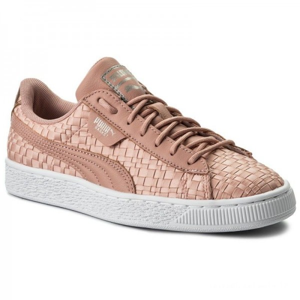 Puma Sneakers Basket Satin Ep 365915 01 Peach Beige/Puma White