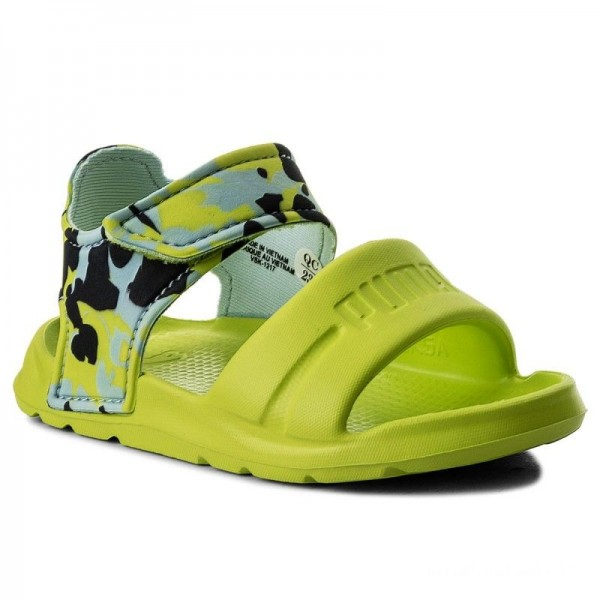 Puma Sandales Wild Sandal Injex Camo Inf 365082 01 Peacoat/Limepunch