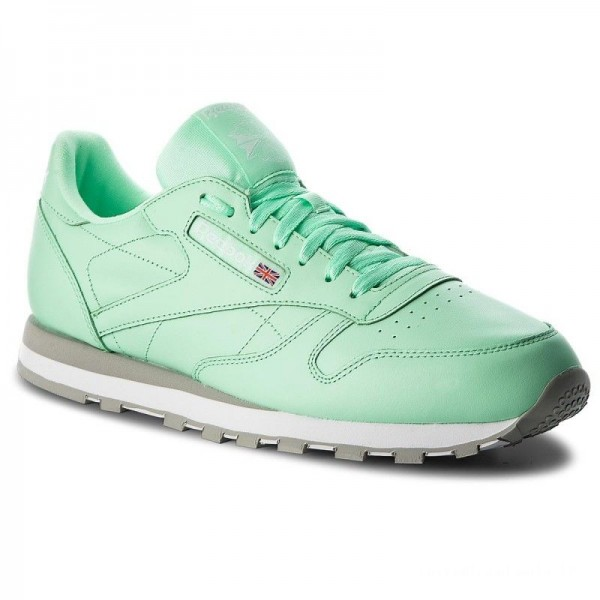 Black Friday 2020 | Reebok Chaussures Cl Leather Mu CN5382 Digital Green/White/Grey