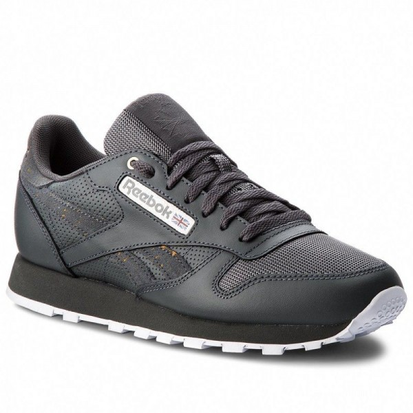 Reebok Chaussures Cl Leather Mu CN4890 Stealth/Banana/White