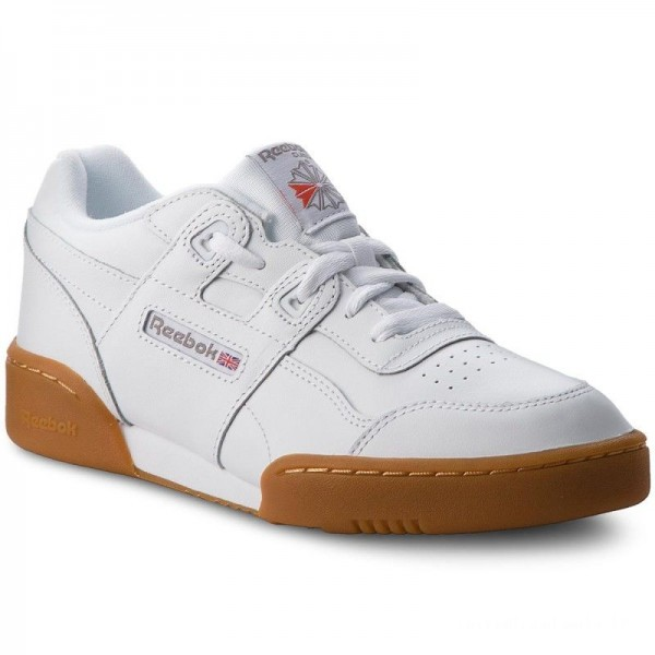 Reebok Chaussures Workout Plus CN2243 White/Carbon/Red Gum