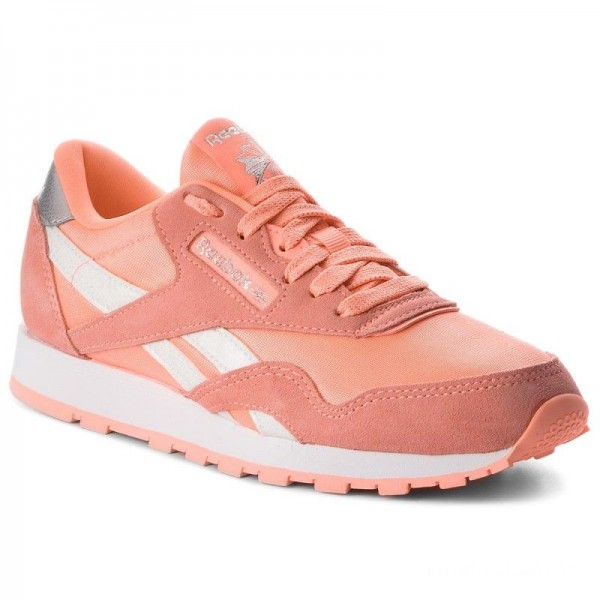 Black Friday 2020 | Reebok Chaussures Cl Nylon CN5112 Digital Pink/White/Silver