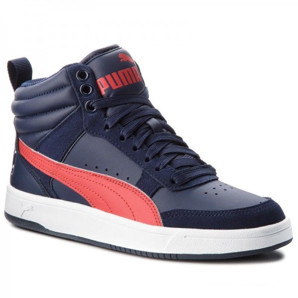 Puma Sneakers Rebound Street V2 Jr 363916 08 Peacoat/Rbbn Red/White