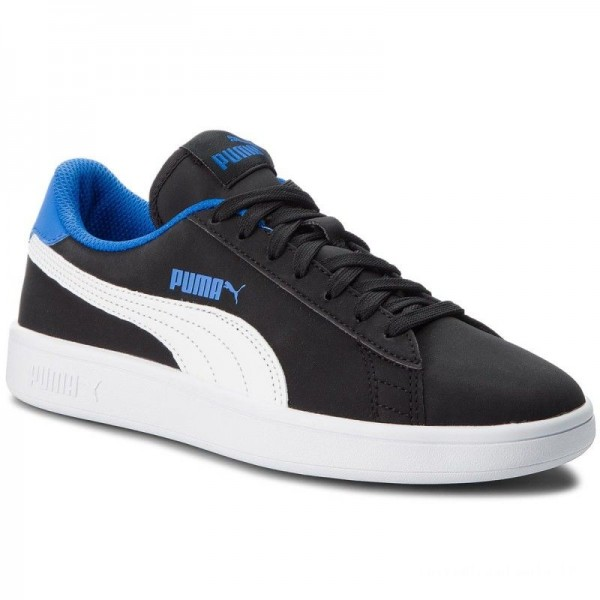 Puma Sneakers Smash V2 Buck Jr 365182 04 Blk/Puma Wh/Strong Bl