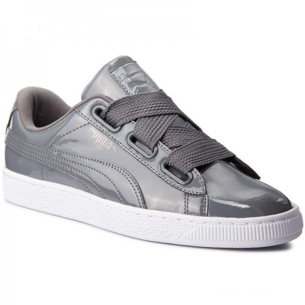 Puma Sneakers Basket Heart Patent Wn's 363073 17 Iron Gate/Iron Gate