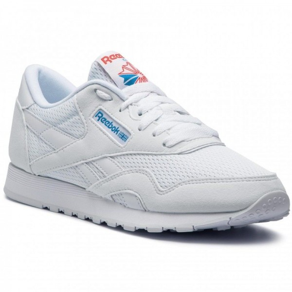 Black Friday 2020 | Reebok Chaussures Cl Nylon Txt CN6684 White/Blue/Neon Red