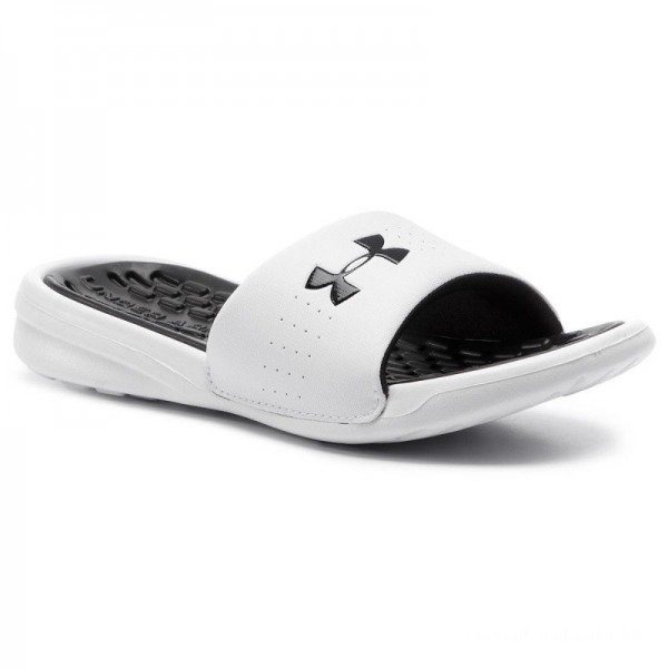Under Armour Mules / sandales de bain Ua W Playmaker Fix Sl 3000063-101 Wht