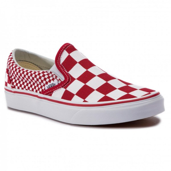 Black Friday 2020 | Vans Tennis Classic Slip-On VN0A38F7VK51 (Mix Checker) Chili Peppe