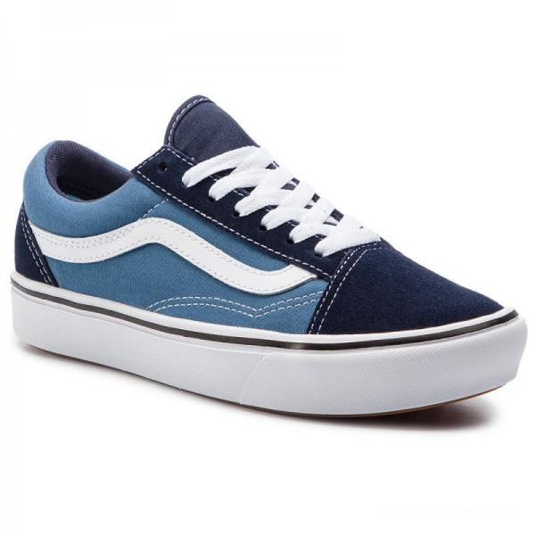 Black Friday 2020 | Vans Tennis Comfycush Old Sko VN0A3WMAVNT1 (Classic) Navy/Stv Navy