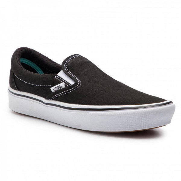 Black Friday 2020 | Vans Tennis ComfyCush Slip-On VN0A3WMDVNE1 (Classic) Black/True Whit